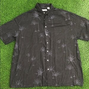 Hollis River tropical print button down shirt